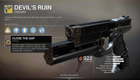 Destiny 2 Руины Дьявола Экзотическое оружие
